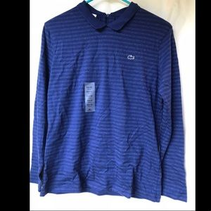 Lacoste Long Sleeve Polo with Stripes